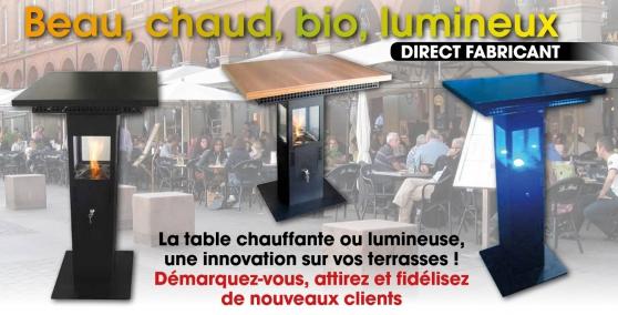Table de Terrasse Chauffante