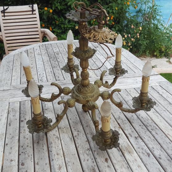 Superbe lustre bronze 6 branches