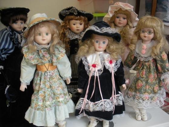 lot de 6 poupées en porcelaine - Annonce gratuite marche.fr