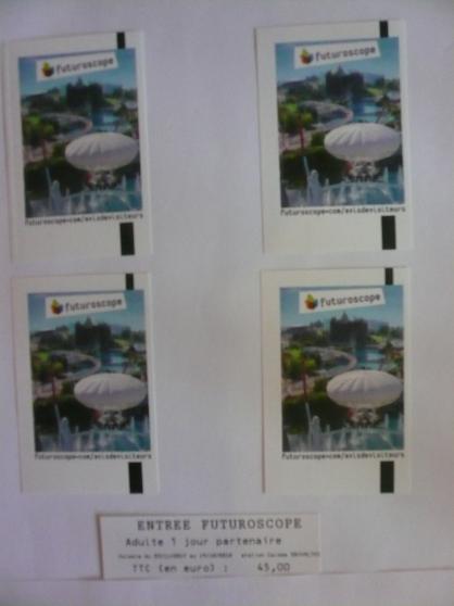billets adultes futuroscope/30 euros - Annonce gratuite marche.fr