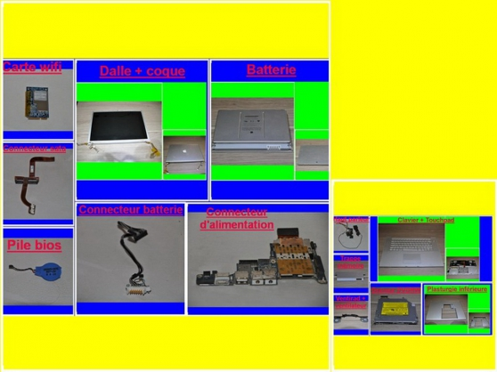 Pièces MacBook Pro 2198 de 15,4 pouces