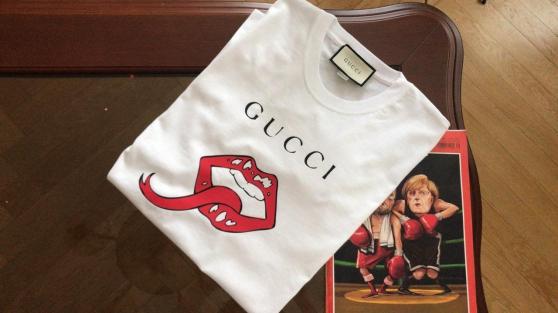 "Neuf homme Gucci GG Tee-shirt ""L"" logo"