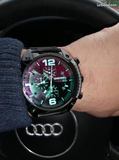 Montre Diesel noir Cadran Vert Chronogra