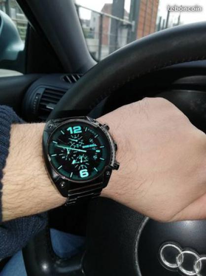 Montre Diesel noir Cadran Vert Chronogra - Photo 2