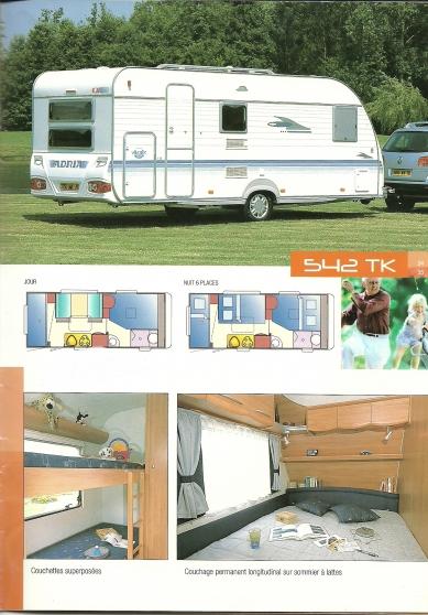 Caravane Adria 542TK 2005 6 places