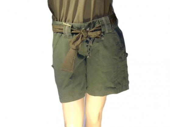 Petite Annonce : Short vintage militaire femme - Short vintage camo femme  100% coton ripstop  longueur 3/4 ou