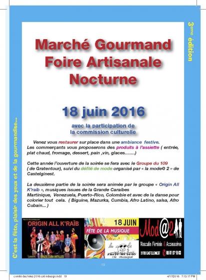 marché gourmand / fête de la musique - Annonce gratuite marche.fr