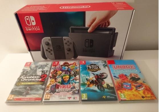 SWITCH Nintendo + 4 jeux