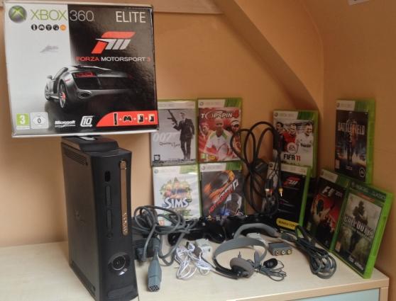 Xbox 360 élite 120 GO +2 manettes+5 jeux