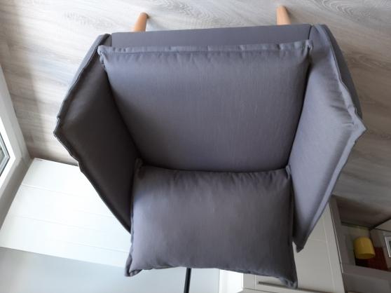 duo de fauteuils en tissu gris ardoise