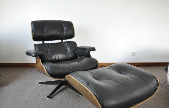 Lounge Chair Fauteuil Cuir Eames Ottoman