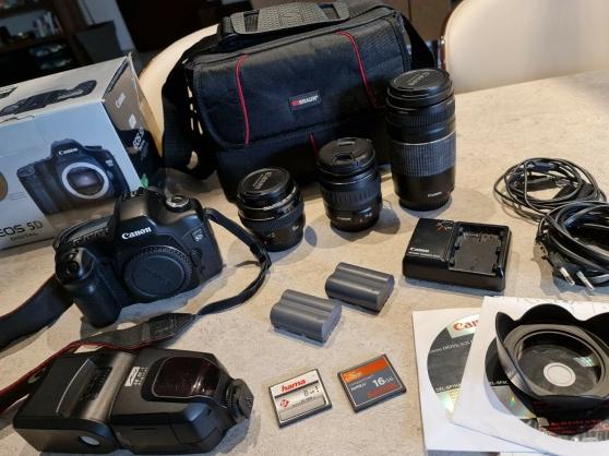 Annonce occasion, vente ou achat 'Canon EOS 5D Mark 1 avec objectifs / 50'
