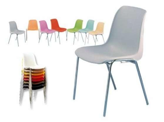 chaise coque plastique empilable fenouillet meubles. Black Bedroom Furniture Sets. Home Design Ideas