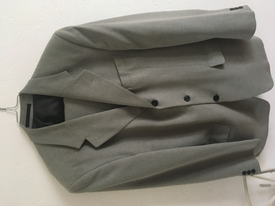 Costume gris perle taille L - Photo 2