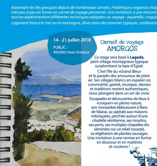 Annonce occasion, vente ou achat 'Stages Carnets de Voyage en Grèce'