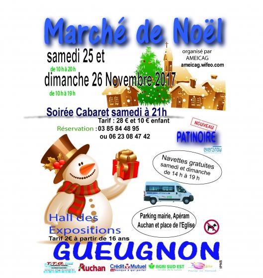 marché de noël de gueugnon - Annonce gratuite marche.fr