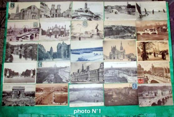 Annonce occasion, vente ou achat 'N°1--25 cartes postales anciennes.'