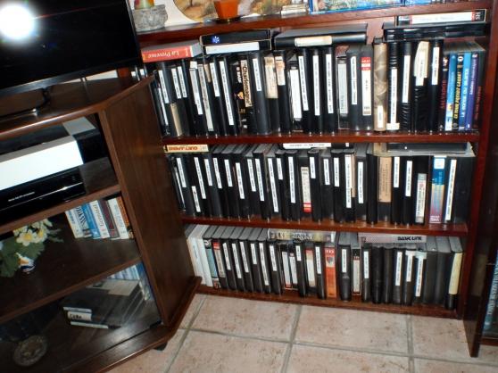 Lot de 200 cassettes vidéo VHS