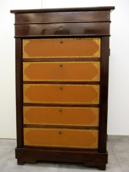 Annonce occasion, vente ou achat 'Cartonnier en Acajou et cuir fin XIXème.'