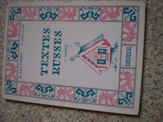 livre texte russe 1ere annee