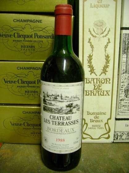 2 bouteilles BORDEAUX millésime 1988