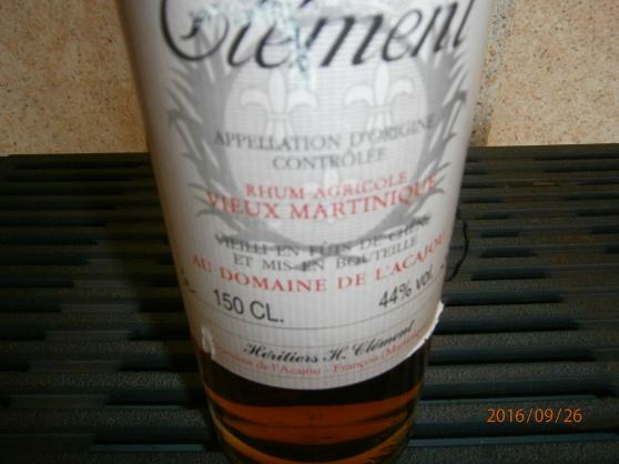 Vieille Bouteille de Rhum Clément 1,50 L - Photo 3