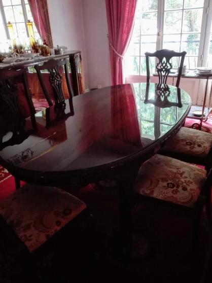 Table style anglais chippendale de 8 per