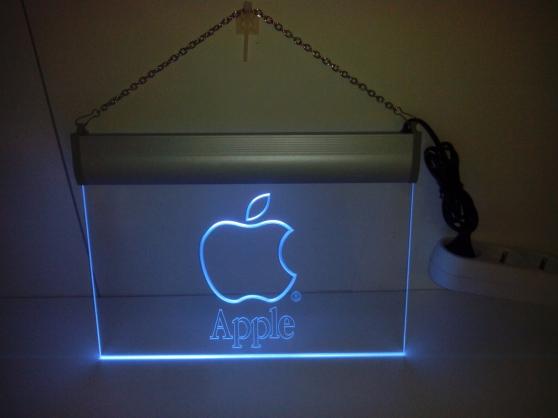 Enseigne lumineuse Apple - Photo 2