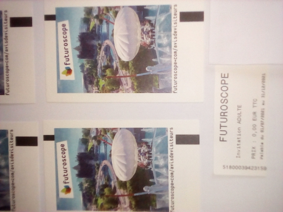 Futuroscope billets adultes/30 euros - Photo 2