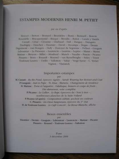 Catalogue PIASA 3 Décembre 2009 estampes - Photo 3