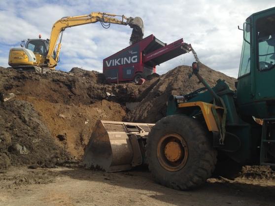 Crible pour terres, compost et démolitio
