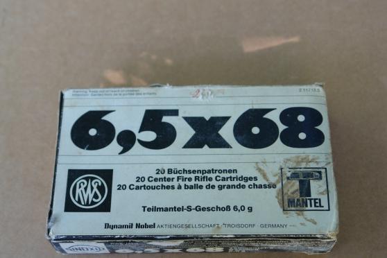 Annonce occasion, vente ou achat 'boite de balle 6.5x68 RWS'