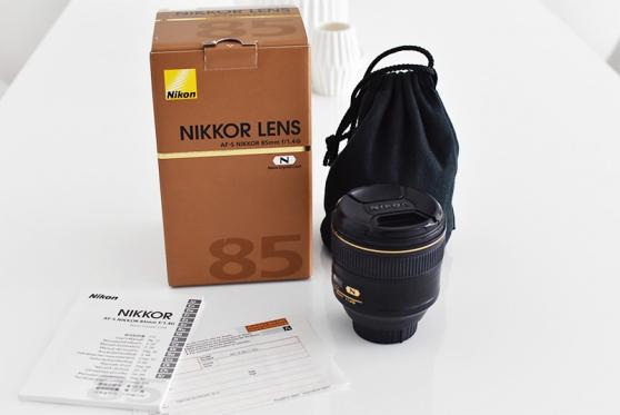 objectif nikon 85mm 1.4g - Annonce gratuite marche.fr