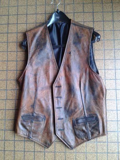 Annonce occasion, vente ou achat 'gilet cuir biker'