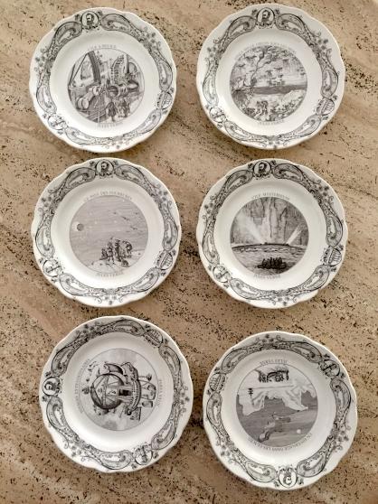 Assiettes commémoration Jules Verne