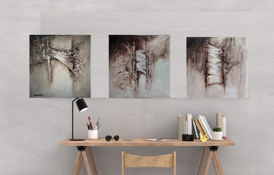 Annonce occasion, vente ou achat 'tableaux peinture décoration 3 pièces'
