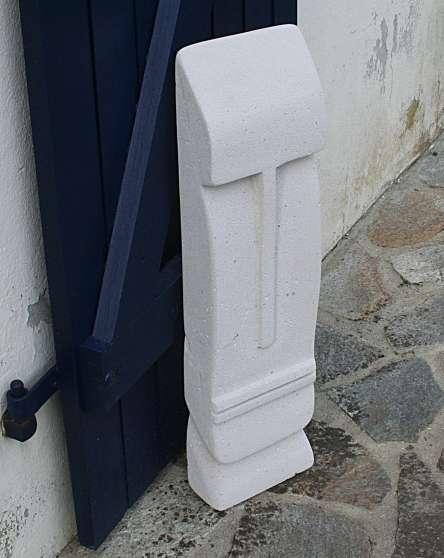 Sculpture/beton cellulaire-Ivain-/ 60cm