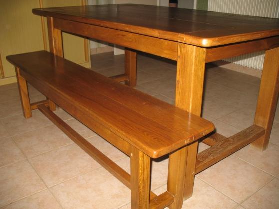 Table et banc en chêne