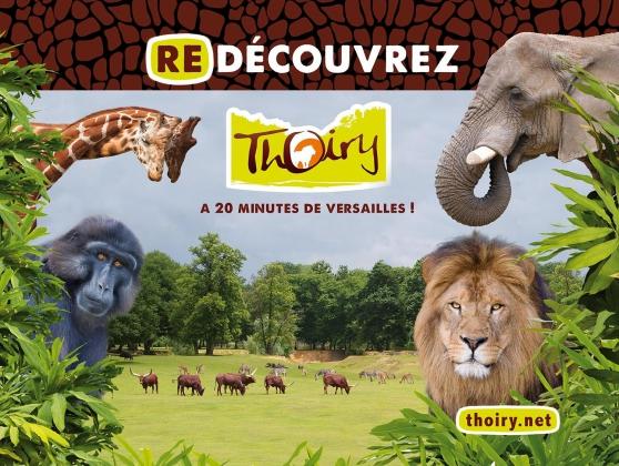 """Petite Annonce : Parc zoologique et château de thoiry - 1Billet pour aller visiter la \""""RÉSERVE AFRICAINE, PARC ZOOLOGIQUE,"""
