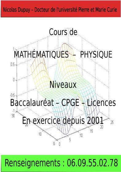 Mathématiques (par docteur en sciences)