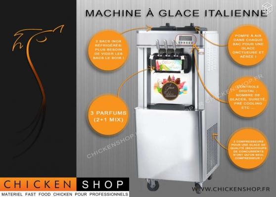 Petite Annonce : Machine a glaces italienne 3 parfums - Machine à glace à l\'italienne NEUVE avec contrôleur