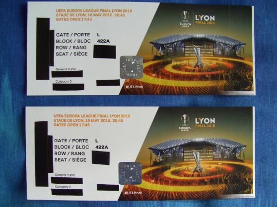 2 Billets Europa League Finale Lyon 2018