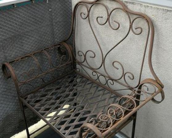 Annonce occasion, vente ou achat '2 fauteuils de jardin en métal.'
