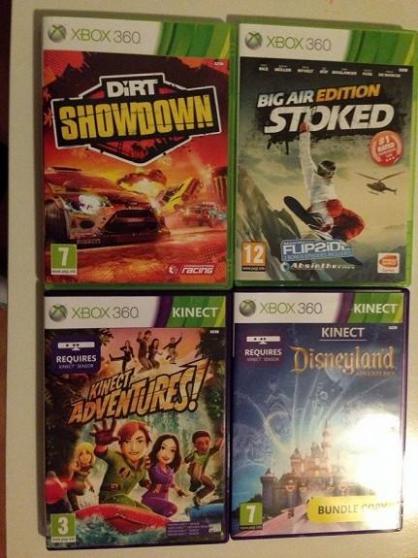 Xbox-360-slim+ 2 manettes+ 4 jeux - Photo 2