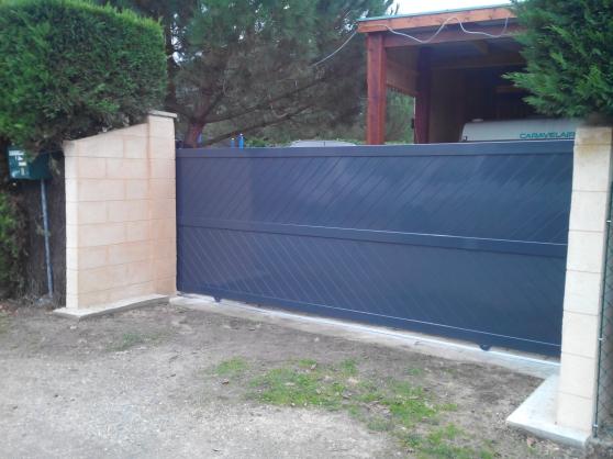 Portail Coulissant Droit Plein 2mx1.4m - Photo 3