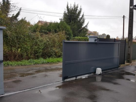 Portail Coulissant Droit Plein 2mx1.4m - Photo 4