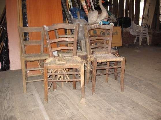 Annonce occasion, vente ou achat '5 chaises bois paille'