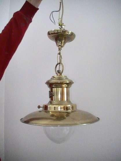 lampe suspension marine laiton
