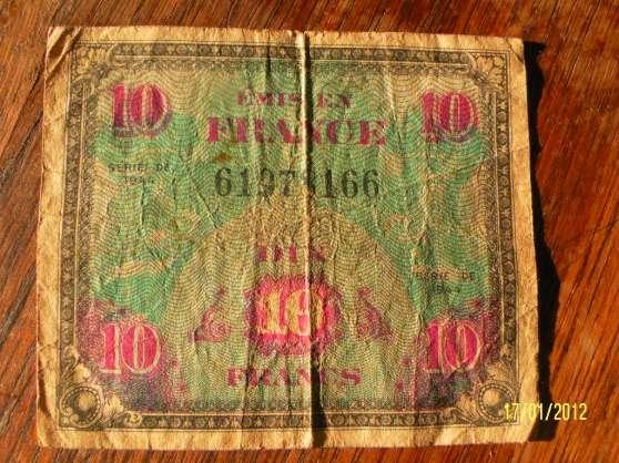 billet de dix francs