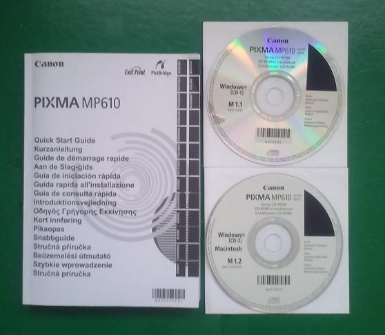manuel et cd d installation canon pixma - Annonce gratuite marche.fr
